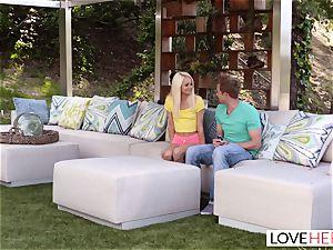 LoveHerFeet - molten ash-blonde Gives a super hot foot pummel