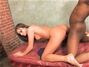 impatient for jizm Tori ebony gets a fountain spewed out in her mouth