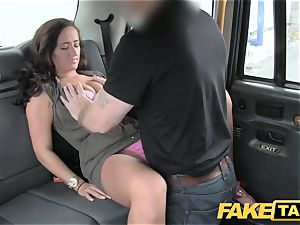 faux taxi nymph in pink underwear gets creampied