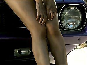 rump goddess Valentina Nappi teasing you under the sexy sun