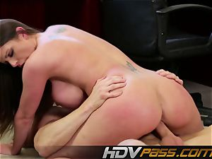HDVPass big-chested Brooklyn flashes off those huge globes