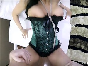 gorgeous Romi gives a molten point of view fellatio and pound
