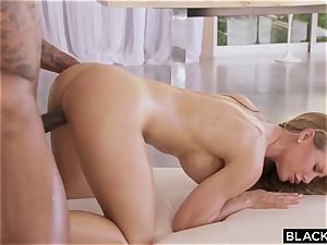 crazy pornstar Nicole Aniston railing large dark-hued weenie outdoor