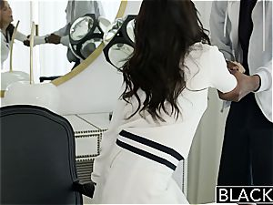 BLACKED Megan Rains very first practice With enormous dark-hued fuckpole Part 1