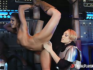 cunt loving lesbos Adriana Chechik and Lily Labeau sploog on board