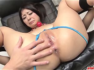 rough moments of anal invasion gonzo with fucktoys for Konatsu howdy
