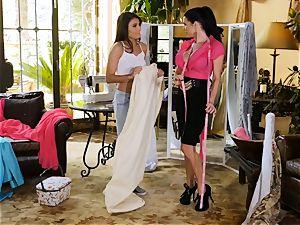 Adria Rae seduced by luxurious seamstress Veronica Avluv