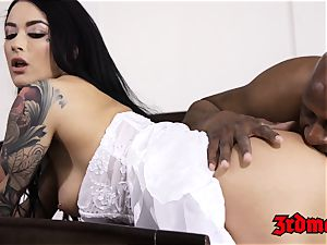 cuckold bride creampied by a big black cock