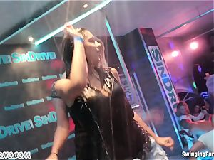 Fornication on the pornography party in nightclub