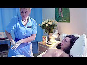 GIRLCORE sapphic Nurses Give teen Patient Vaginal examination