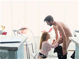 PUREMATURE red Headed cougar tries ass-fuck