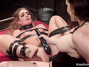 chesty mistress anal penetrates corded all girl