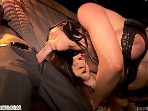 Romi Rain - extraordinaire super-steamy unexperienced porno in the street