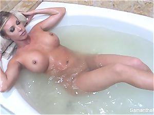 Samantha's sensuous tub damsel on woman dream
