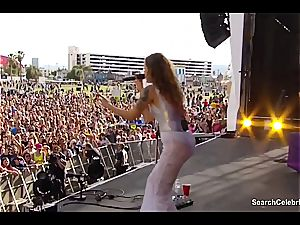 Tove Lo showcases off her excellent jugs to the crowd