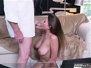 Latino parent and ambidextrous cuckold man first-ever time Ivy amazes with her ginormous knockers and ass