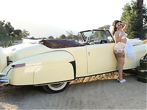 Lana Rhoades vintage car snatch play
