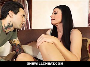 SheWillCheat - Stepmom Caught Using fuck stick