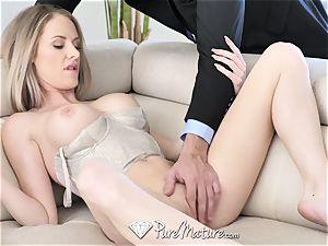 PureMature huge-titted milf Jenna Jones interrupted with poke