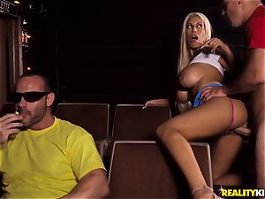 Cinema stiffy deep-throating big-chested Bridgette B