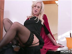 ash-blonde porked rock hard first time Halloween sensational With A three-way