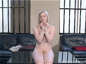 blondie Satine Sparks limited and licked by her domme
