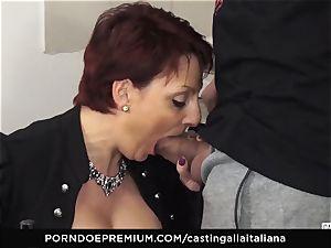 casting ALLA ITALIANA Mature redhead caboose boinked deep