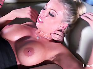 Britney gets a deep manmeat and blast on her caboose
