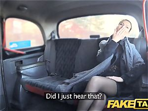 fake cab Czech lady thirsts a firm wood