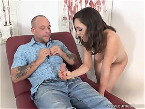Jade Nile Has Her husband suck fuckpole and see Her