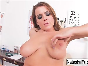 Natasha super-cute plays in the Doctors office