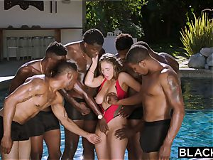 BLACKED Lena Paul first-ever multiracial group sex