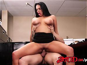 Missy Martinez smashes her worker