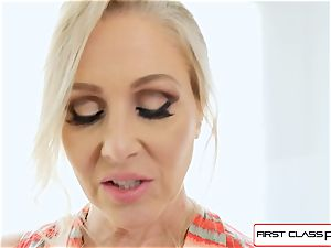 FirstClass point of view - love Julia Ann inhaling a humungous massive salami