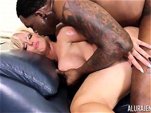 meaty big black cock Alura Jenson packed deep