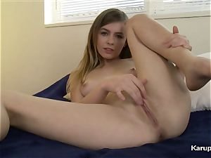 Alex Blake Finger drills Her vag
