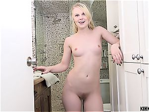 cute platinum-blonde likes to have fun do me I do you with her brutha