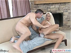 curvaceous Bridgette B. filled with his manhood